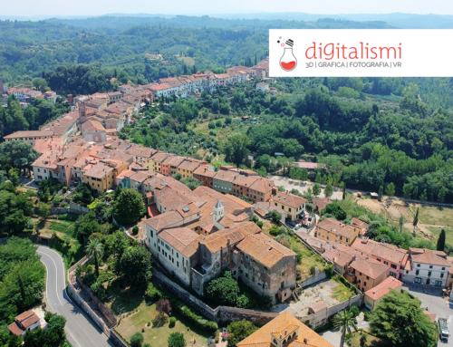 Fotografia aerea nei borghi della Toscana
