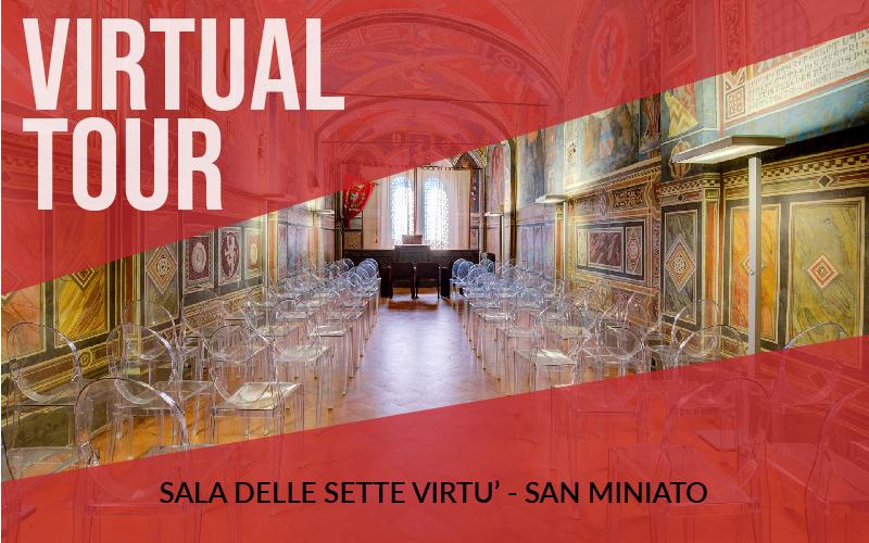 Virtual tour della sala delle sette virtù del Palazzo Comunale di San Miniato (PI)