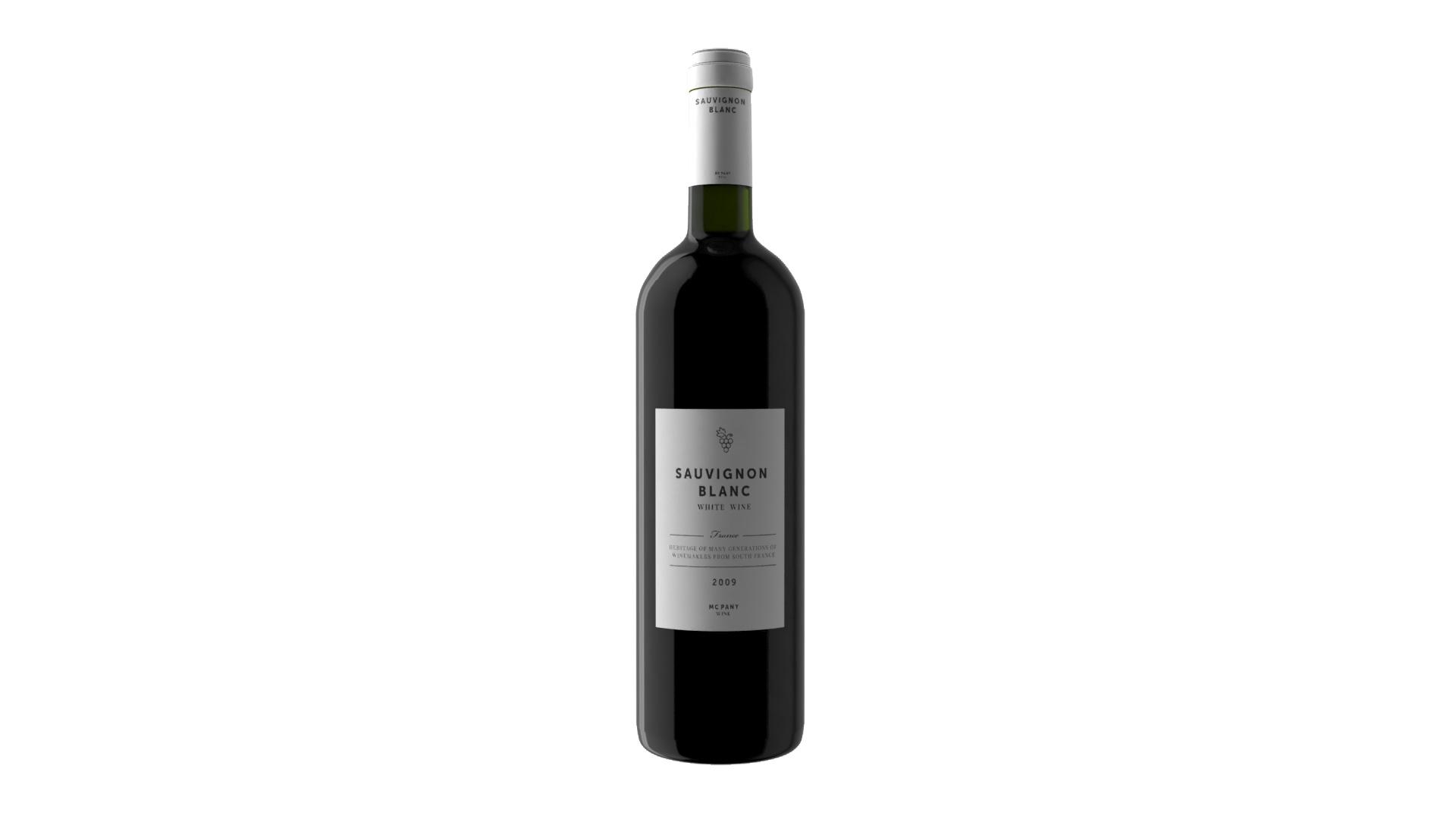 render bottiglia vino