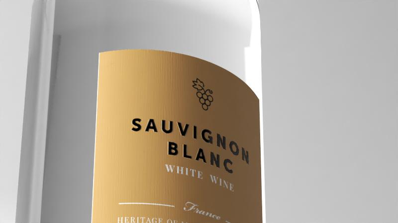 rendering bottiglia di vino - colore bottiglia