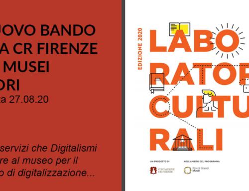 Bando Laboratori Culturali 2020 Fondazione CR Firenze