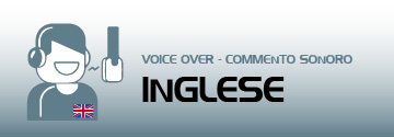 commento sonoro voice over inglese