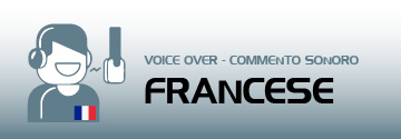 commento sonoro voice over francese