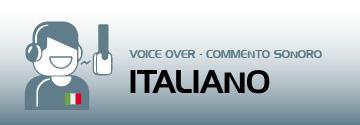 commento sonoro voice over italiano